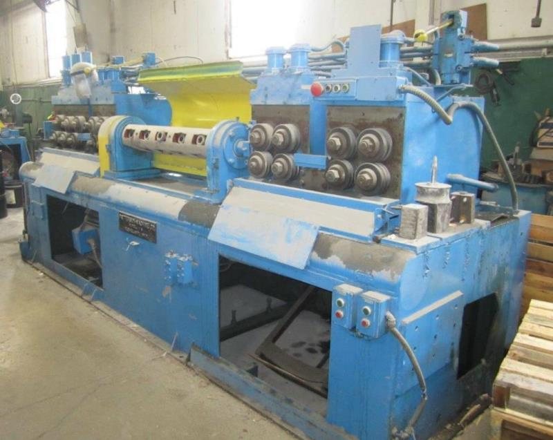 "Stock no: 7515 - 1"" x 12' STRAIGHTENING & CUTTING MACHINE"