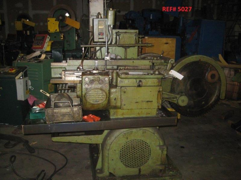 Stock no: 6579 - HORZ HAND FEED FLAT DIE THREAD ROLLING MACHINE