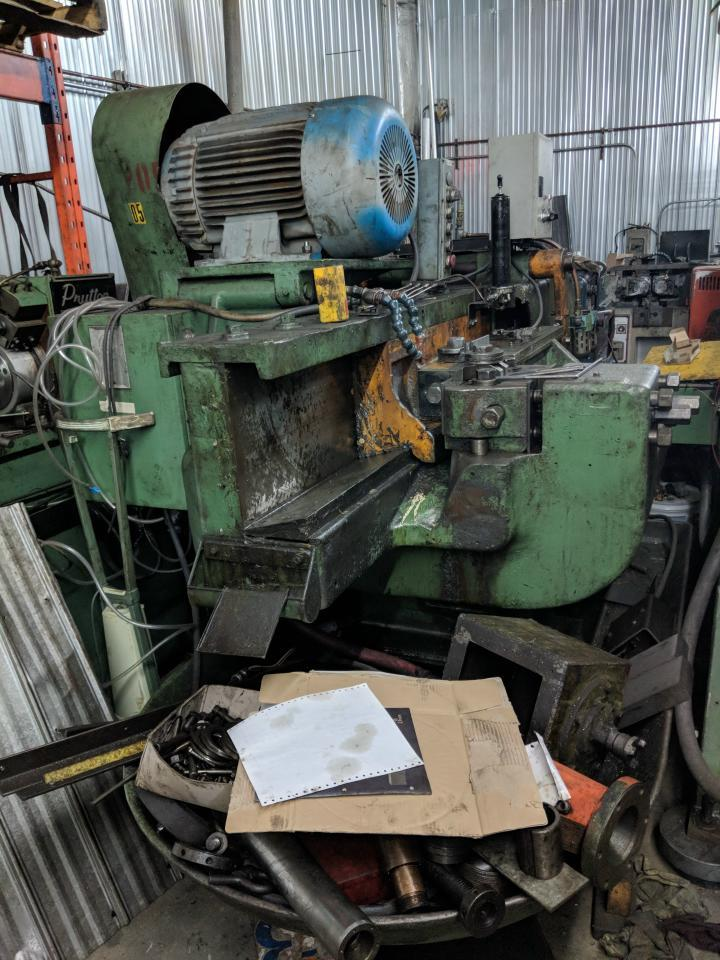 Stock no: 7314 - HORZ HEAVY FLAT DIE THREAD ROLLING MACHINE